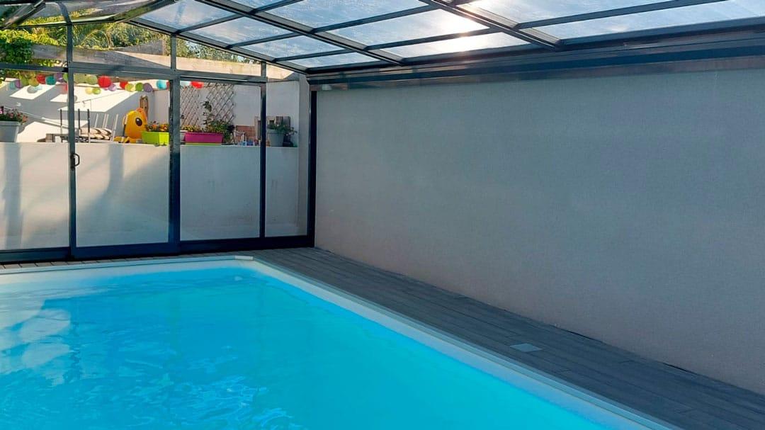 cubiertas para piscina en Palencia