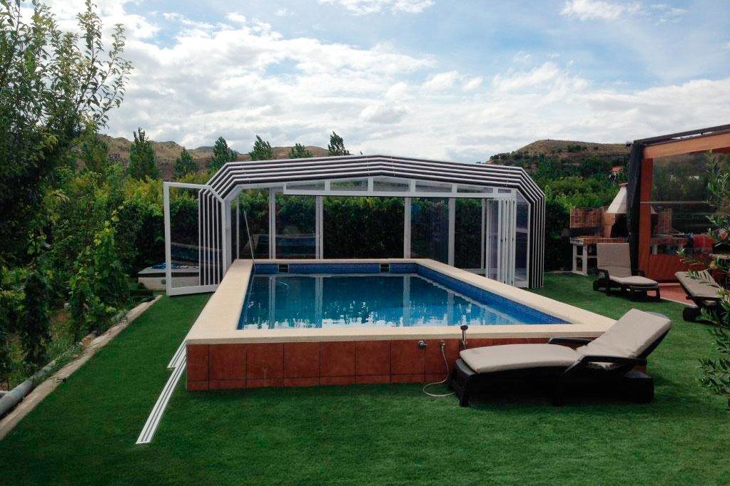 cubiertas para piscinas Ibiza