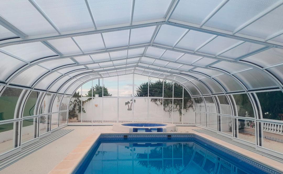 cubiertas para piscina menorca